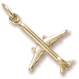 10K Gold Medium Airplane Charm by Rembrandt Charms