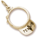 Gold Plated Tennis Visor Charm by Rembrandt Charms