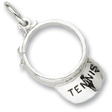 14K White Gold Tennis Visor Charm by Rembrandt Charms