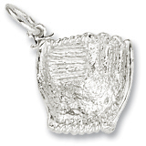 14K White Gold Baseball Glove Charm by Rembrandt Charms