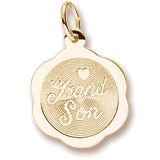 Gold Plated Grandson Charm by Rembrandt Charms