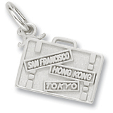 Sterling Silver Suitcase Charm by Rembrandt Charms