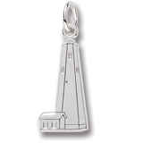 14K White Gold Bald Head Lighthouse Charm by Rembrandt Charms