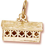 10K Gold Covered Bridge Charm by Rembrandt Charms