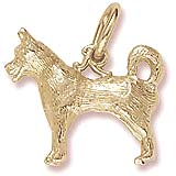 10K Gold Husky Dog Charm by Rembrandt Charms
