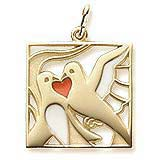 Gold Plated The 12 Days of Christmas Day 2 by Rembrandt Charms