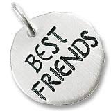 Sterling Silver Best Friends Charm Tag by Rembrandt Charms