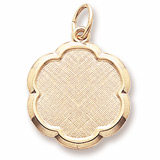 10K Gold Blank Scalloped Disc Charm by Rembrandt Charms