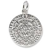 Sterling Silver Aztec Sun Charm by Rembrandt Charms