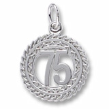 14K White Gold Number 75 Charm by Rembrandt Charms