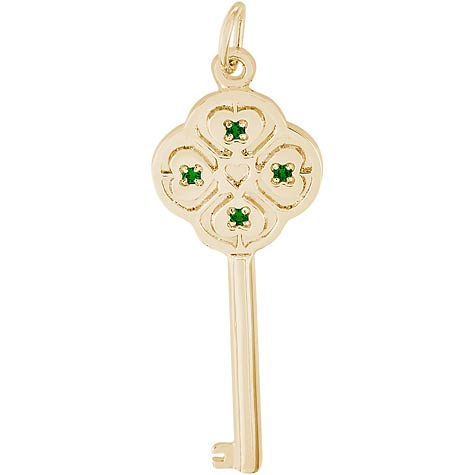 14K Gold Key to my Heart 05 May by Rembrandt Charms