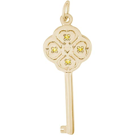 14K Gold Key to my Heart 11 November by Rembrandt Charms