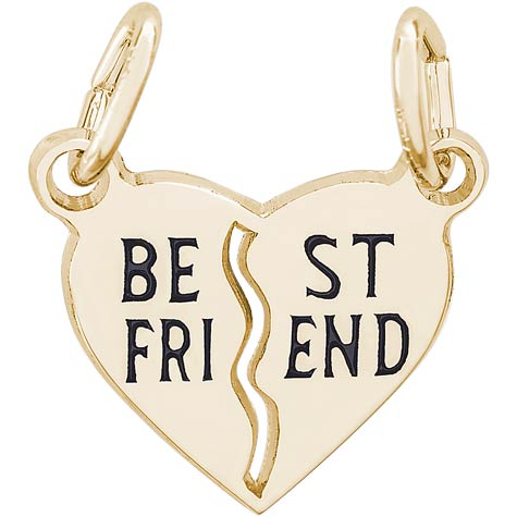 14k Gold Best Friend Heart Charm by Rembrandt Charms