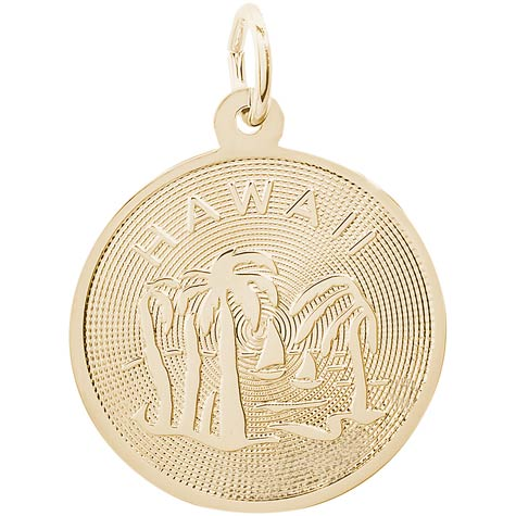14K Gold Hawaii Charm by Rembrandt Charms
