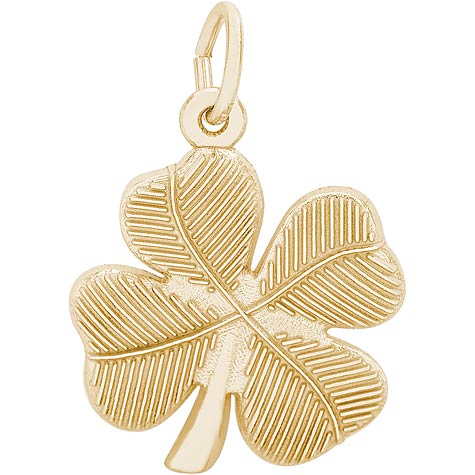 Gold Plate Four Leaf Clover Charm by Rembrandt Charms
