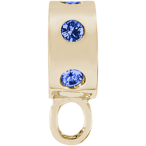 14K Gold Blue Inlaid Stones CharmDrop by Rembrandt Charms