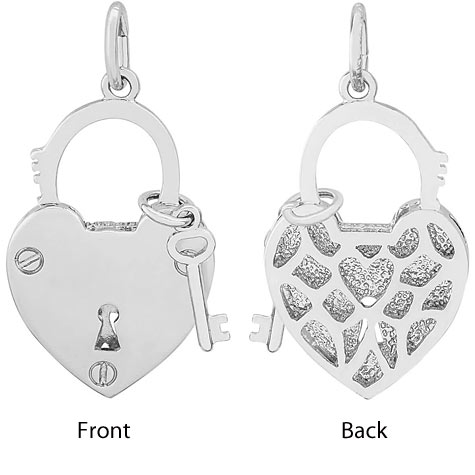 14K White Gold Locked with Love by Rembrandt Charms