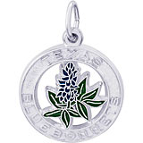 Sterling Silver Texas Bluebonnets Charm
