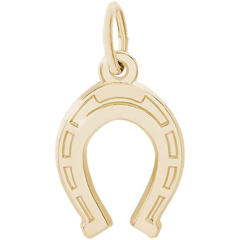 14K Gold Lucky Horseshoe Charm by Rembrandt Charms