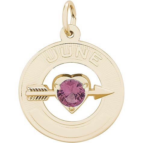 14k Gold 06 Jun Month of Love Charm by Rembrandt Charms