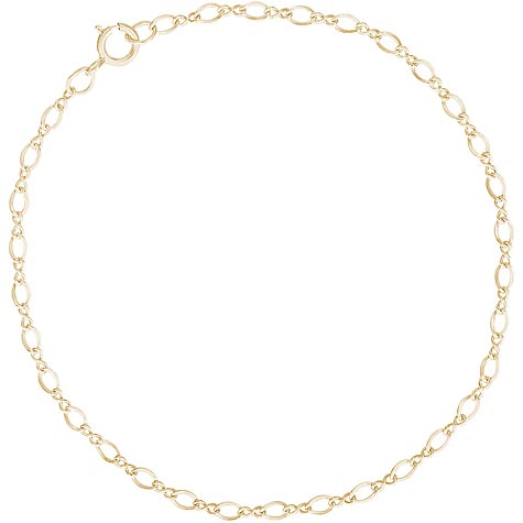 "10K Gold Figure 8 Charm Bracelet 7"" by Rembrandt Charms"
