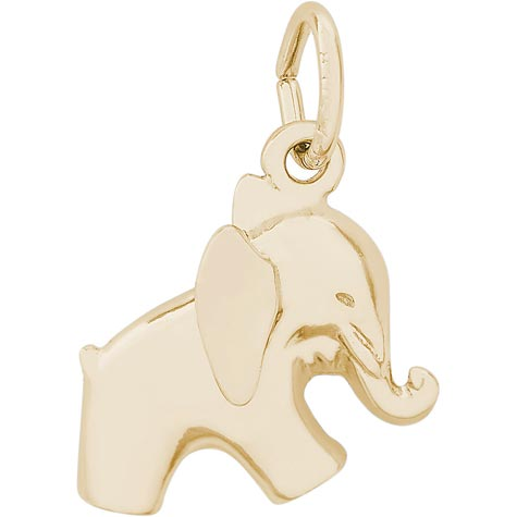 10K Gold Baby Elephant Charm by Rembrandt Charms