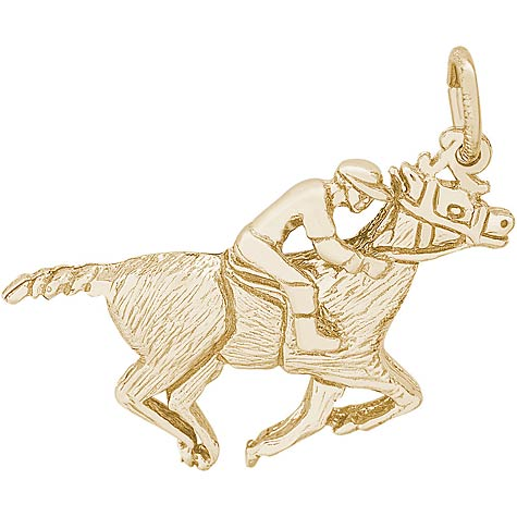 Gold Plate Horse and Jockey Charm by Rembrandt Charms