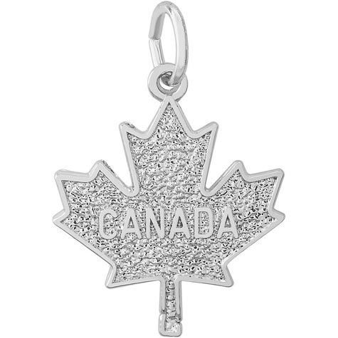 Sterling Silver Canada Maple Leaf by Rembrandt Charms