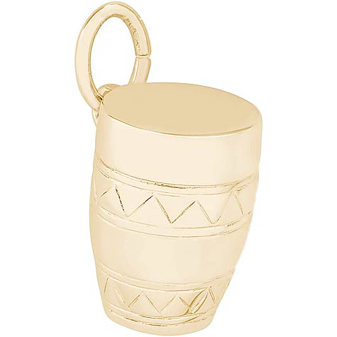 14K Gold Bongo Drum Charm by Rembrandt Charms