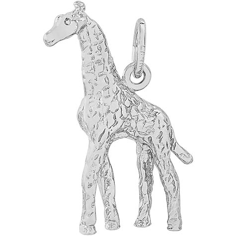 Sterling Silver Giraffe Charm by Rembrandt Charms
