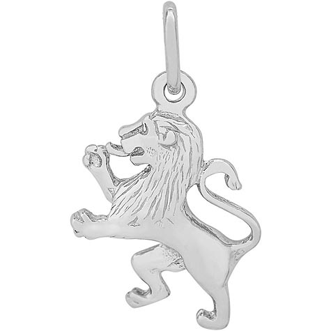 Sterling Silver Ramped Lion Charm by Rembrandt Charms