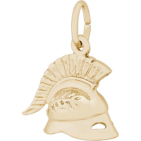 14K Gold Roman Helmet Charm by Rembrandt Charms