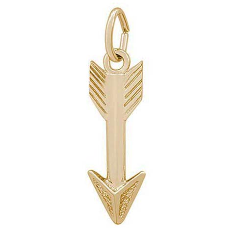 14K Gold Cupid's Arrow Charm by Rembrandt Charms