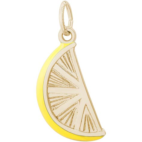 Gold Plate Lemon Slice Charm by Rembrandt Charms