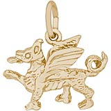 14K Gold Griffin Charm by Rembrandt Charms