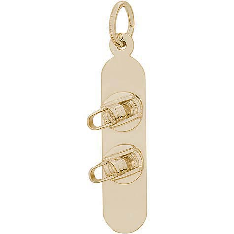 14k Gold Snowboard Charm by Rembrandt Charms