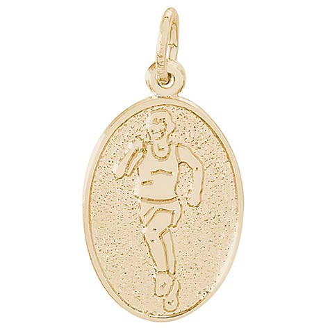 14K Gold Runner Charm by Rembrandt Charms