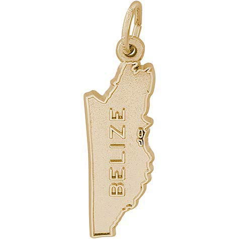 Gold Plate Belize Map Charm by Rembrandt Charms