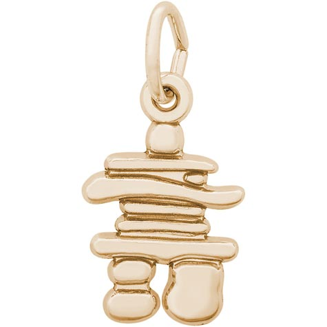 14K Gold Inukshuk Accent Charm by Rembrandt Charms