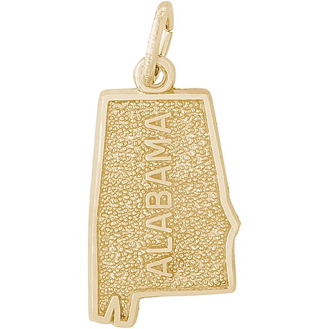 14K Gold Alabama Charm by Rembrandt Charms