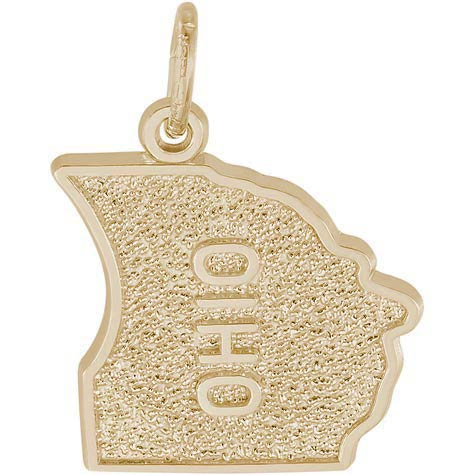 14K Gold Ohio Charm by Rembrandt Charms