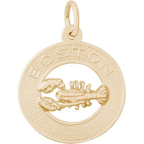 14K Gold Boston Lobster Charm by Rembrandt Charms