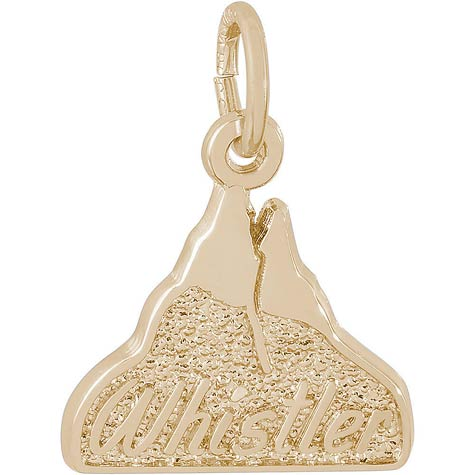 14K Gold Whistler Mountain Charm by Rembrandt Charms