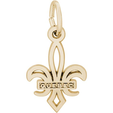 14K Gold Small Quebec Fleur De Lis Charm by Rembrandt Charms