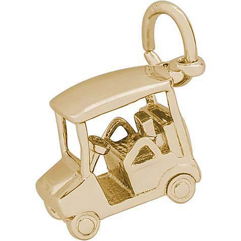 14k Gold Golf Cart Charm by Rembrandt Charms