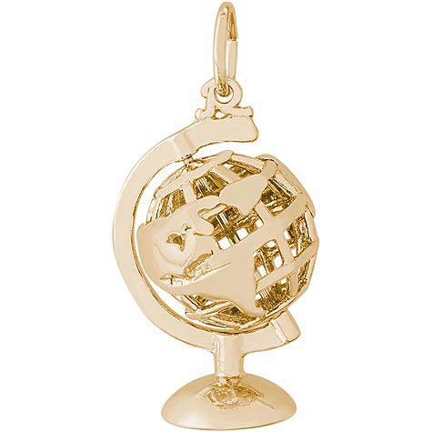 14K Gold Base Globe Charm by Rembrandt Charms