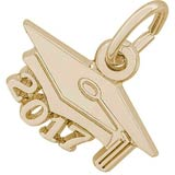 14k Gold Graduation Cap 2017 Charm by Rembrandt Charms