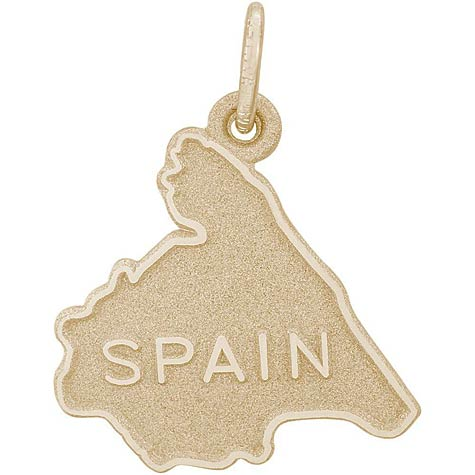 14K Gold Spain Map Charm by Rembrandt Charms