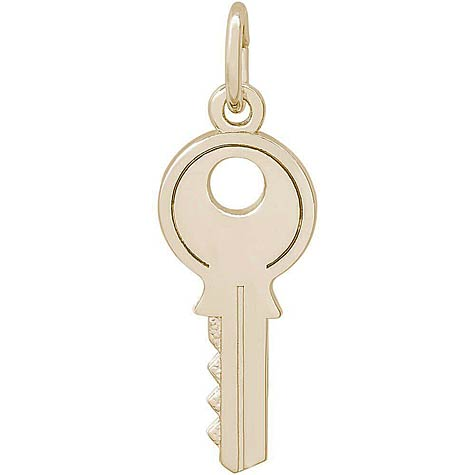 14K Gold House Key Charm by Rembrandt Charms