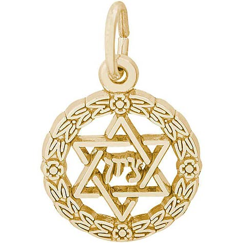 10K Gold Star of David Wreath Charm by Rembrandt Charms
